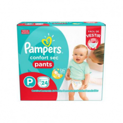 FRALDA PAMPERS PANTS P 24 UN