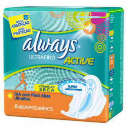 ABSORVENTE ALWAYS ULTRA FINO C/ABAS