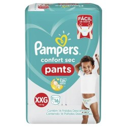 FRALDA PAMPERS PANTS XXG 16 UN